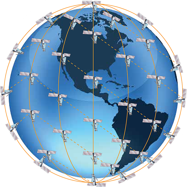 Iridium coverage globe