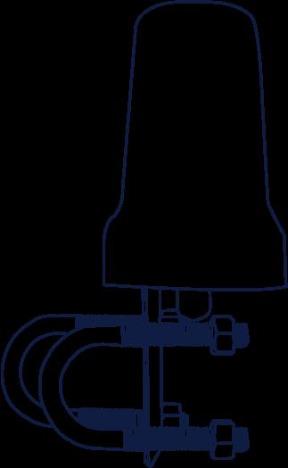 Iridium Beam Mast/Pole Antenna (RST710) drawing