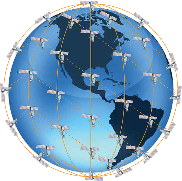 Iridium network coverage globe